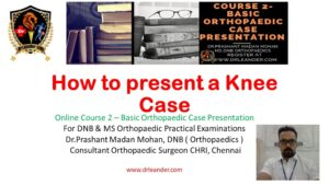 how to present a knee case